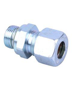 """Einschraub-Verschraubung  zylindr. Gewinde mit O-Ring ; 3/8"""" x 12 mm"""