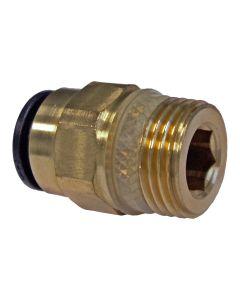 """Einschraubverbinder   ; 3/8"""" x 8 mm für Ölversorgungsleitung"""