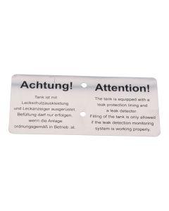 Alu-Hinweisschild   ; für ME-Satz