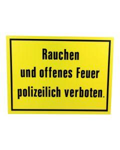 "Hinweisschild   ; ""Rauchen ...verboten"""
