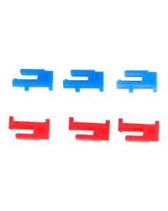 Schaltreiter   ; THEBEN rot/blau