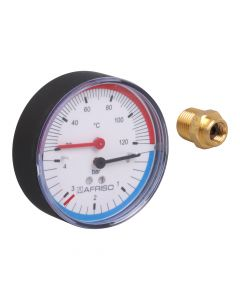 "Thermo-Manometer   ; 0-4 bar, 1/2"""