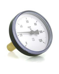 Heizungsthermometer  Bimetall ; 63 mm Gehäuse, 40 mm Fühler