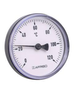 Heizungsthermometer  Bimetall ; 100 mm Gehäuse, 45 mm Fühler
