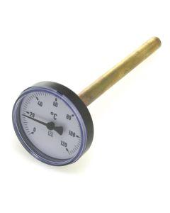 Heizungsthermometer  Bimetall ; 100 mm Gehäuse, 150 mm Fühler