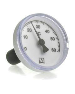 Heizungsthermometer  Bimetall ; 50 mm Gehäuse, 40 mm Fühler