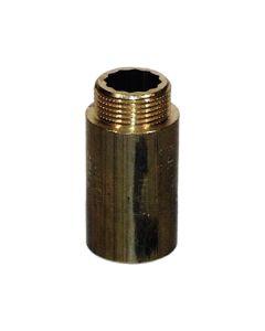 """Hahnverlängerung  aus Messing ; 1"""" x 40 mm"""