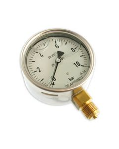 Manometer  Edelstahl Glyzerin NG 100 radial ; 0 bis 10 bar