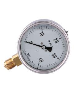Manometer  Edelstahl Glyzerin NG 100 radial ; 0 bis 40 bar