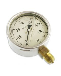Manometer  Edelstahl Glyzerin NG 100 radial ; 0 bis 60 bar