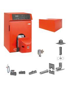 Öl-Brennwertkessel INTERCAL Ratioline Plus Öl Set - Heizen RLA mit Warmwasserspeicher ; inkl. Abgassystem