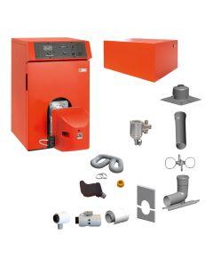 Öl-Brennwertkessel INTERCAL Ratioline Plus Öl Set - Heizen RLU mit Warmwasserspeicher ; inkl. Abgassystem