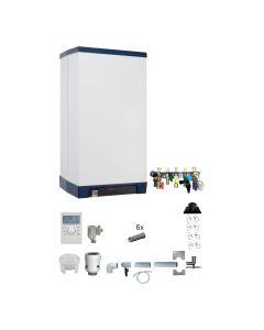 Gas-Brennwertkessel INTERCAL Streamline Set - Kombigerät RLU Variante 7; 25/32 kW inkl. Abgassystem