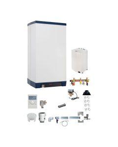 Gas-Brennwertkessel INTERCAL Streamline Set - Heizen RLU mit Warmwasserspeicher Variante 8; 25 kW inkl. Abgassystem