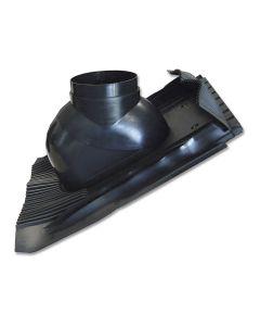Abgasrohr INTERCAL LAS-System DN 80/125 starr ; Schrägdachpfanne, schwarz