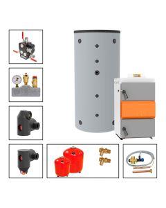 Holzvergaserkessel SOLARBAYER HVS Economic Set E 40-1B; 40 kW, Speicher 1 x SLS-2200-S