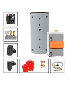 Holzvergaserkessel SOLARBAYER HVS LambdaControl Set LC 40-1B; 40 kW, Speicher 1 x SLS-2200-S
